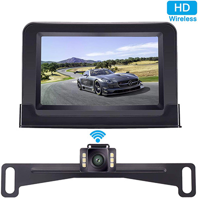 "1. DoHonest ZSMJ Wireless Backup Camera and 4.3"" Monitor Kit"