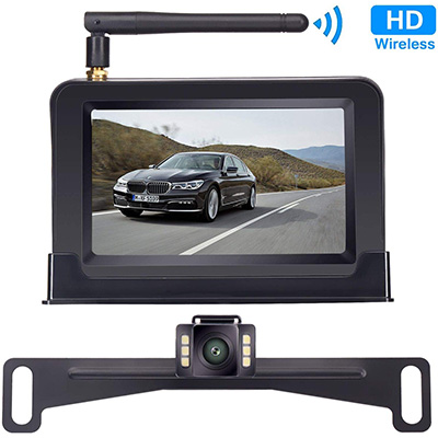 "4. Yakry Backup Camera Wireless 4.3"" Monitor Kit"