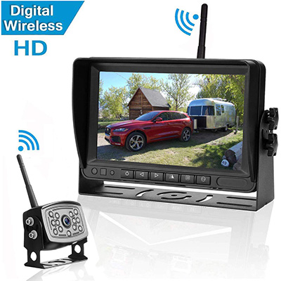 "3. Amtifo Digital Wireless Backup Camera and 7"" Monitor"