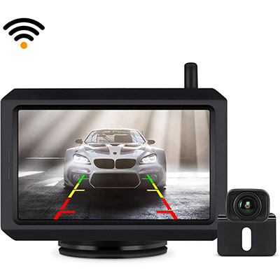 9. BOSCAM Wireless Backup Camera Kit with Digital Signal (BOSCAM K7)
