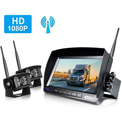 6. ZEROXCLUB Wireless Digital Rear View Camera Kit (HW02-black)