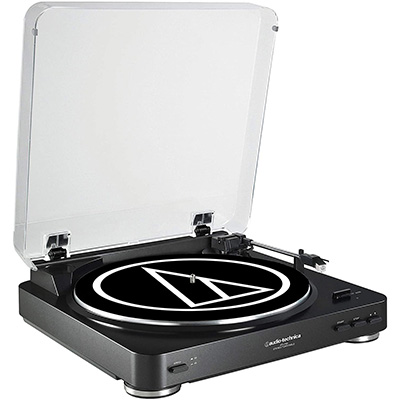 1. Audio-Technica AT-LP60BK Fully Automatic Belt-Drive Turntable