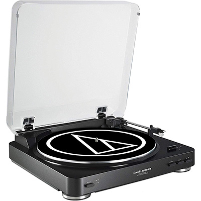 5. Audio-Technica Fully Automatic Belt-Drive Turntable (AT-LP60BK-USB)