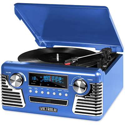 9. Victrola's 50's Retro 3-Speed Bluetooth Turntable